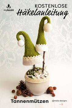 Crochet for Christmas - Free Tutorial - DIY Crochet and Knit . - Crochet for Christmas – free tutorial – DIY crochet and knitting for Christmas, ideas for gifts - Crochet Motifs, Free Crochet, Crochet Patterns, Crochet Designs, Diy Crochet Gifts, Diy Gifts, Small Christmas Gifts, Christmas Diy, E Craft