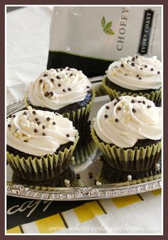 Choffy Chocolate Cupcakes are moist and decadent!  www.drinkchoff.com/bethpearce