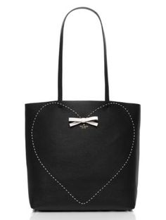 on purpose pick stitch heart leather tote - Kate Spade New York