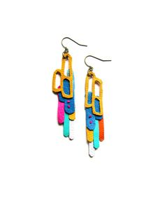 boo and boo factory leather pop art earrings