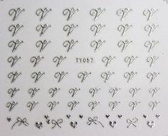 Buy 2 get 1 Free Silver Alphabet V W X Z Nail art by tigerlilies