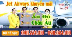 Jet Airways khuyến mãi vé máy bay đi Ấn Độ và Châu Âu mới nhất