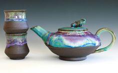 Handmade Ceramic Tea Set, ceramics and pottery. WOW!