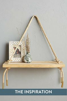DIY swing shelf that rivals its Anthropologie inspiration.