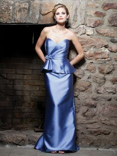 Silky Wool Strapless Sweetheart Ruching Bodice A-line Bridesmaids Dress