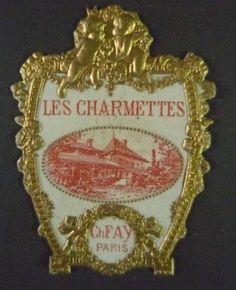 étiquette ancienne/ flacon à parfum,Les Charmettes Ch. Fay. Label perfume bottle