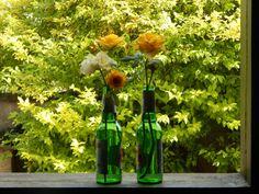 decoração com garrafas verdes - Pesquisa Google