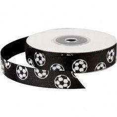 Black grosgrain ribbon printed with white footballs. Grosgrain, Accessories, Shopping, Products, Fashion, Moda, Fashion Styles, Fashion Illustrations, Gadget