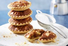 These delightful tartlets taste as good as they look. Using frozen pastry cases, crunchy macadamia nuts and brown sugar give these bites a sweet crunch.