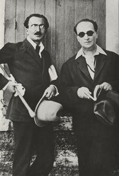 Nikos Kazantzakis and Angelos Sikelianos. Martin Scorsese, Important People, People Like, Zorba The Greek, Greek Culture, Magnum Opus, Writers And Poets, American Poets, The Orator