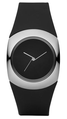 ♂ Minimalist Design Philippe Starck Minimalist Analog Watch - Black Design