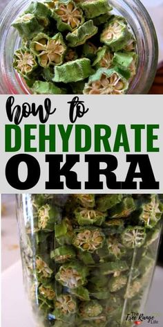 Do you grow okra in your garden and need a way to preserve it? Learn how to dehydrate okra to preserve it so that it lasts all year long! Dehydrated Okra, Dehydrated Vegetables, Dried Vegetables, Fruits And Veggies, Canning Vegetables, Dried Okra Recipe, Vegetarian Barbecue, Barbecue Recipes, Vegetarian Cooking