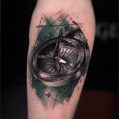 """@thomascarlijarlier's photo: """"Old compass done today"""""""