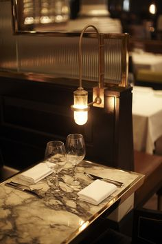 restaurant design | lighting | marble | Massimos, Corinthia Hotel  #RePin by AT Social Media Marketing - Pinterest Marketing Specialists ATSocialMedia.co.uk