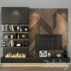 Tv Cabinet Wall Design, Tv Wall Cabinets, Tv Wall Design, Tv Cabinet Design Modern, Tv Wall Shelves, Living Room Wall Units, Living Room Tv Unit Designs, Tv Wall Unit Designs, Living Room Tv Cabinet
