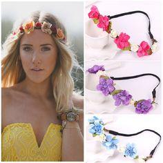 Buy New Bride Bohemian Flower Headband Festival Wedding Floral Garland Hair  Band Headwear Hair Accessories for Women at Wish - Shopping Made Fun 4f77d92af563