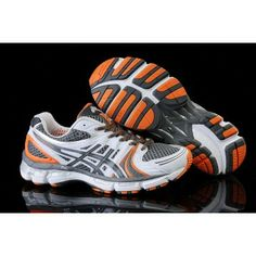 f04d57dc84d vuxn Asics Gel Kayano 18 Gris Blanco Anaranjado Jordan Sneakers