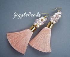 Hey, I found this really awesome Etsy listing at https://www.etsy.com/listing/584686490/pink-tassel-earrings-long-tassel
