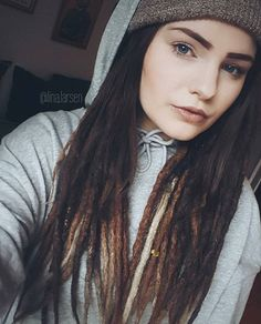 Nice dreads but those drawn on eyebrows erk me. Nice comment but the way you spelled irk is incorrect. That really irks me.