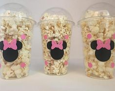 Minnie Mouse party favor bags, Minnie Mouse Party Favors, Minnie Mouse party Cups, Minnie Mouse Birthday Party Cups, Minnie Mouse favors These are great for any Mouse inspired party. Each cup is 16 oz. and made from a sturdy disposable Minnie Mouse Party, Minnie Mouse Favors, Minnie Mouse Birthday Decorations, Minnie Mouse 1st Birthday, Minnie Mouse Pink, Mickey Party, Mouse Parties, Disney Parties, Minnie Mouse Stickers