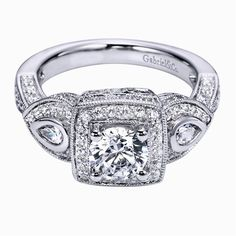 Gabriel & Co. diamond engagement ring