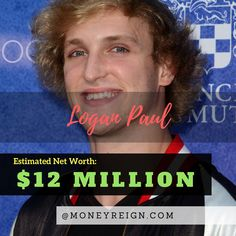 Logan Paul has a net worth of over $12 million. However, the rise and fall of Logan might be coming to a close quickly, as he caused a big stir with many of his recent YouTube videos. Where is the net worth of this YouTube star headed in the coming years?