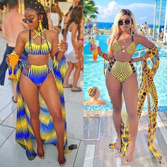I really dont mind heading to the pool in this super fabulous Ankara swimsuit sets by the mega talented ofuure. See how mariipvzz killed it! Girl, you are a Queen! I hail . African Print Fashion, African Fashion Dresses, Ankara Fashion, Africa Fashion, African Prints, African Fabric, Beach Party Outfits, Summer Outfits, Cute Outfits