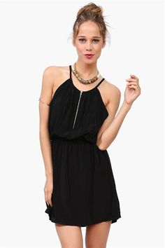 Zip It Dress - Black