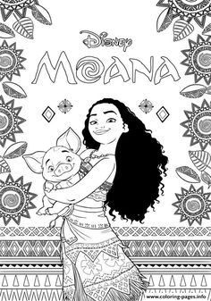 Print Moana Disney coloring pages