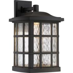 The Stonington 17 Inch Large Outdoor Wall Lantern by Quoizel Lighting has an elegant Stonington LED - K Matte black Finish. The Outdoor Lantern is the perfect enhancement to any home decor from the rustic to the most modern of homes. Visit PatioProductsUSA.com to purchase now! #outdoorwalllantern #outdoorlighting #patiolighting Black Outdoor Wall Lights, Outdoor Wall Lantern, Outdoor Wall Sconce, Outdoor Wall Lighting, Outdoor Walls, Indoor Outdoor, Garage Lighting, Quoizel Lighting, Clear Glass