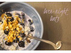 Quick breakfast recipe: Overnight oats   For more healthy recipes visit www.rebeccanoseworthy.ca   #quick #healthy #breakfast #recipe #dietitian #oats