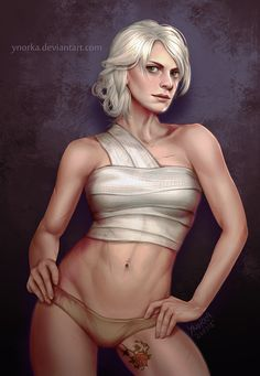 Ciri with the rose tattoo by ynorka on DeviantArt