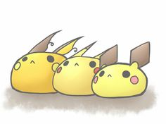 Pikachu family poofs