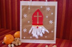 Nikolaussackerl Christmas Crafts For Gifts, Preschool Christmas, Christmas And New Year, Kids Christmas, Christmas Cards, Craft Projects For Kids, Projects To Try, St Nicholas Day, Kindergarten Art