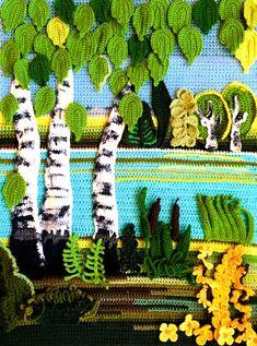Tagged with art, aww, awesome, creativity, crochet; Crochet Wall Art, Crochet Wall Hangings, Crochet Home, Love Crochet, Crochet Flowers, Crochet Square Patterns, Crochet Diagram, Crochet Cross, Irish Crochet
