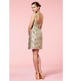 Rose Jaquard Dress by Bow and Pearl