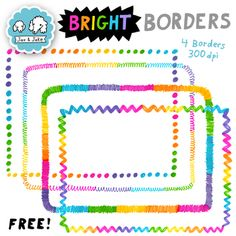 Need more colorful borders? Check out our Rainbow Watercolor Border Collection. Classroom Organization, Classroom Decor, School Border, Watercolor Border, Rainbow Clipart, Free Teaching Resources, Teaching Ideas, Borders For Paper, Future Classroom