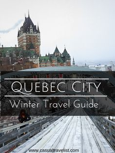 Looking to travel to Quebec City this winter? From ice castles and winter festivals to a toboggan slide right in the middle of town, there are lots of reasons to plan a winter trip to Quebec City. New Travel, Winter Travel, Travel Goals, Canada Travel, Travel Usa, Family Travel, Travel Europe, Travel Tips, Travel Articles
