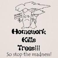 homework kills trees