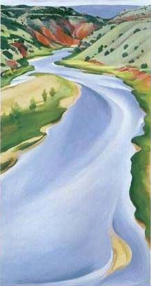 Chama River, Ghost Ranch, 1937 -   Georgia O'Keeffe