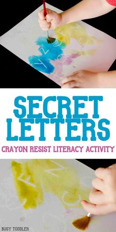 Secret Letters: An Easy Art + Literacy Activity - Busy Toddler