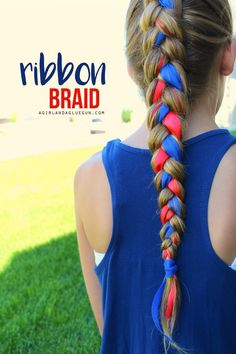 ribbon braid for 4th of July