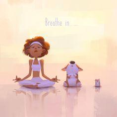 Yoga Illustration, Character Illustration, Namaste, Yoga Kunst, Yoga Cartoon, Yoga Drawing, Realistic Eye Drawing, Yoga Art, Animes Wallpapers