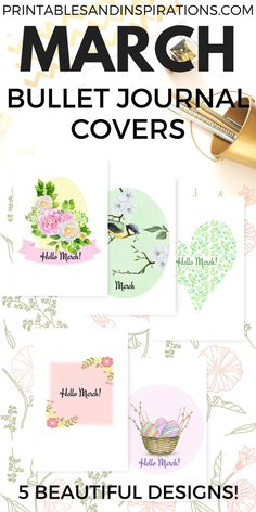March Bullet Journal Cover – Free Printables!