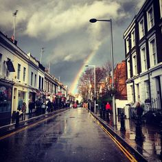 Rainbows over London. <3 by TheBellJar.nl