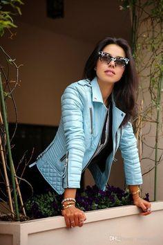 77531d1c New 2015 Leather Jacket Women Long-Sleeved Autumn Winter Slim Zipper Jackets  Female Outwear Coat Tops for Women Clothing (Mainland))