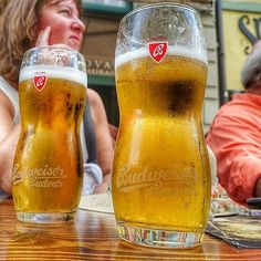 We got to try Czech Budweiser Budvar while we were in #Bratislava and it is so much better than the beer they sell in the US!  I loved being able to mingle with the locals on our @vikingcruises on the #Danube eating and drinking the local fare!  #myvikingstory #ad #beer #budweiser #slovakia #slovakgirl #zipkick #travel #journey #delicious #local #tripofalifetime