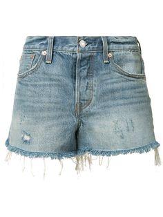 New Levi's Womens 23547 High Waist Blue Distressed Wedgie Denim Jean Shorts 31 Estilo Shorts Jeans, Denim Shorts Style, Distressed Denim Shorts, Levi Shorts, Blue Shorts, Blue Denim, Denim Jeans, High End Fashion, Stretch Denim