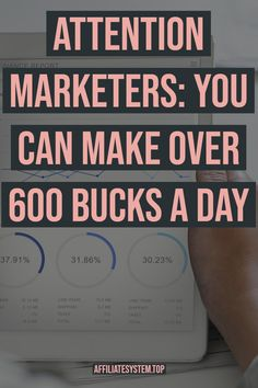 Attention marketers: You can make over 600 bucks a Day Earn Money Fast, Earn Money Online, Make Money Blogging, Online Jobs, Make Money From Home, How To Make Money, Money Tips, Online Work From Home, Work From Home Business