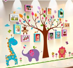 Unique family photo wall decor